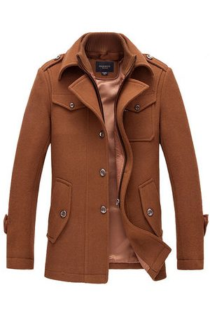 Newchic Men Trench Coats - Winter Gentlemanlike Single-breasted Trench Coat