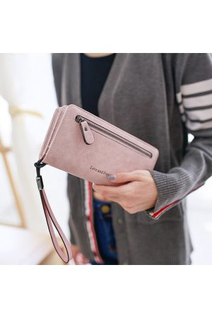Newchic Elegant Long Wallet PU Leather Zipper Purse Card Holders Phone Bags