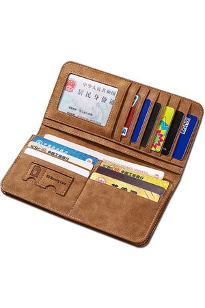 Newchic Vertical PU Leather Wallet 13 Card Slots Card Holder Casual Bill Holder For Men