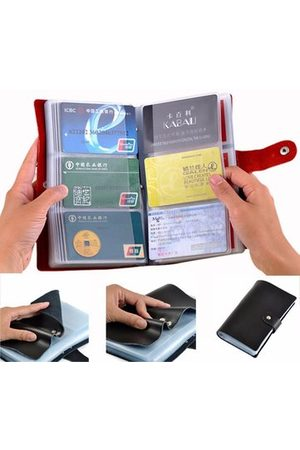 Newchic Wallets - Woman Man Unisex Universal Multi-Slots Card Large Capacity 90 Card Slots Card Wallet