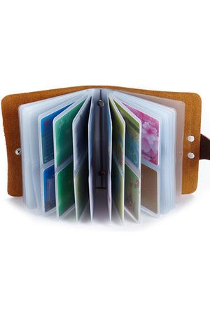 Newchic 60 Card Slots Card Holder Genuine Leather Big Capacity Wallet For Women Men