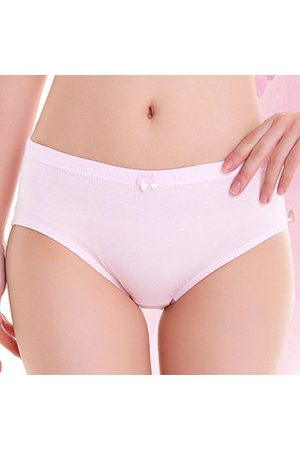 Newchic Comfy Cotton Soft Breathable Bow Soft Mid Waist Panties Undrwear For Women