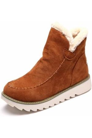 Newchic Women Ankle Boots - Warm Fur Lining Winter Ankle Snow Boots