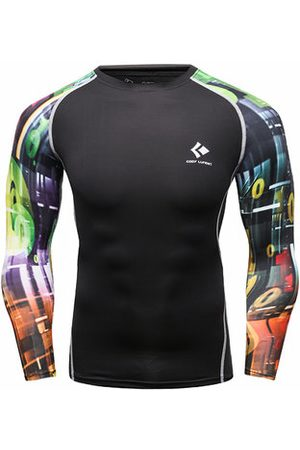 Newchic Mens Traning Sportwear 12 Styles Elastic Quick-drying Fitness Tights Long Sleeve T-shirt