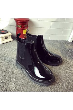 Newchic Women Ankle Boots - Waterproof Ankle Knight European Style Flat Boots