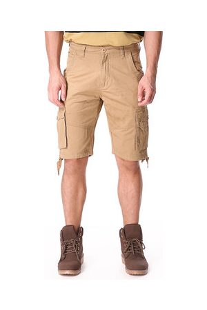 Newchic Mens Casual Cotton Blend Large Size Multi-pocket Military Solid Color Cargo Shorts