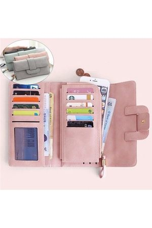 Newchic Women Wallets - Women Stylish Large Capacity Multi-slots Button Hand Long Wallet 5.5 inch Phone Bag Card Holder