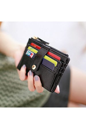 Newchic Women Wallets - Women PU Leather Pure Color Multi-slots Card Holder Coins Bag
