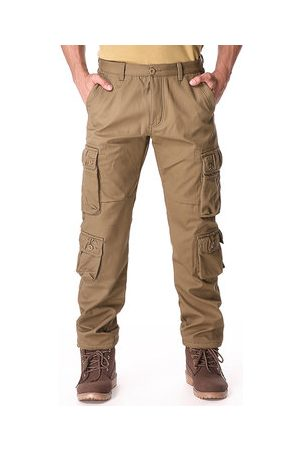 Newchic Men Cargo Pants - Charmkpr Mens Winter Polar Fleece Lined Warm Trousers