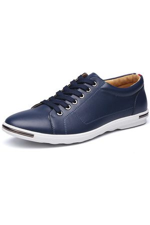 cc3a851a87ab Newchic Big Size Men s Fashion Comfortable Outdoor Lace Up Casual Flat Shoes