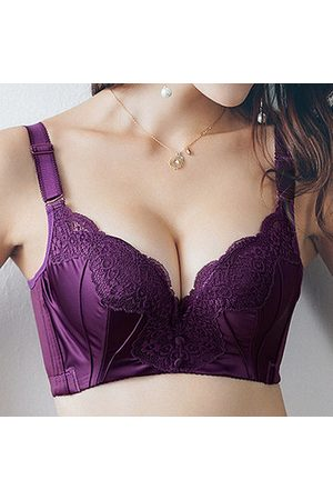 Newchic Women Push Up Bras - Sexy Push Up Exquisite Gather Smooth Thick Cup Underwire Adjustable Bras