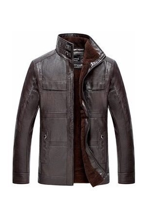 Newchic Mens Casual Business PU Jacket