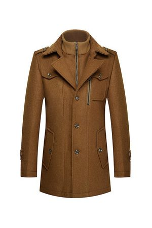 Newchic Winter Thicken Warm Wool Trench Coat