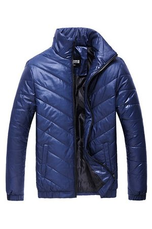 Newchic Men Winter Jackets - Plus Size Winter Fashion Windproof Thicken Warm Slim Padded Jacket for Men