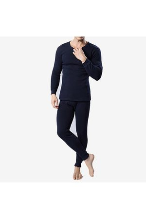 Newchic Men Pyjamas - Inside Thicken Fleece Pajamas Sets