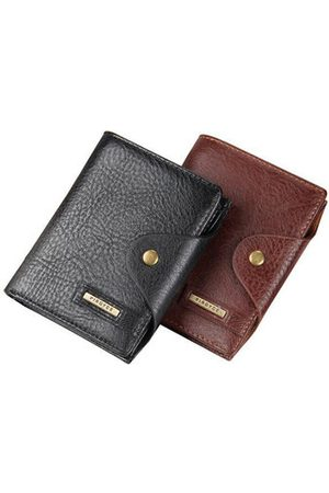 Newchic Men Wallets - 6 Documents Holders PU Leather Wallet 6 Card Slots Travel Passport Card Holder For Men