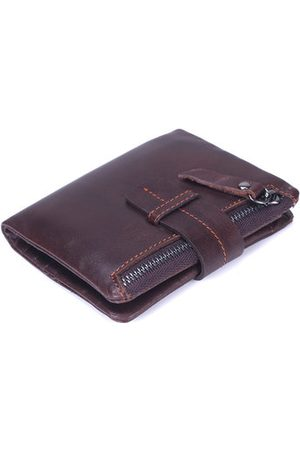 Newchic Men Wallets - Genuine Leather Wallet 6 Card Slots Card Holder Cowhide Coin Purse For Women Men