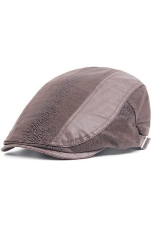 Newchic Men Hats - Men Snake Skin Pattern Cotton Beret Cap Buckle Adjustable Cabbie Gentleman Hat