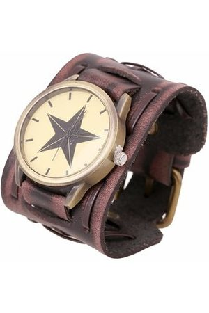 Newchic Men Bracelets & Bangles - Punk Bracelet Watch Rock Star Leather Bracelet Watch for Men Gift