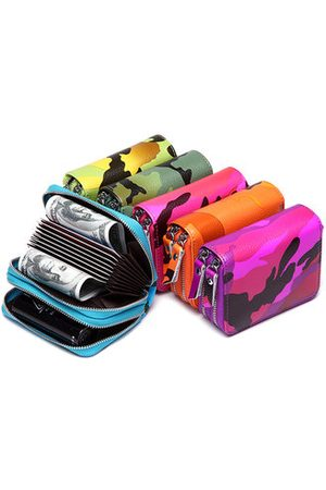Newchic Women Men RFID Magnetically Card Bag Card Wallet Camouflage Card Wallet