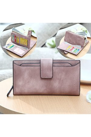Newchic Elegant Candy Color PU Leather Long Wallet 5.5 inch Phone Bag Card Holder Purse For Women