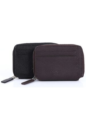 Newchic PU Leather Lichee Pattern Wallet 5 Card Slots Card Holder Zipper Coin Purse For Men