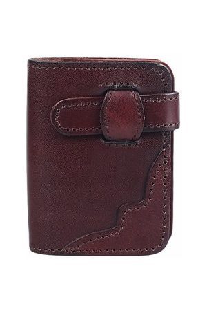Newchic Women Wallets - 20 Card Slots Genuine Leather Card Holder Cowhide Vintage Casual Wallet