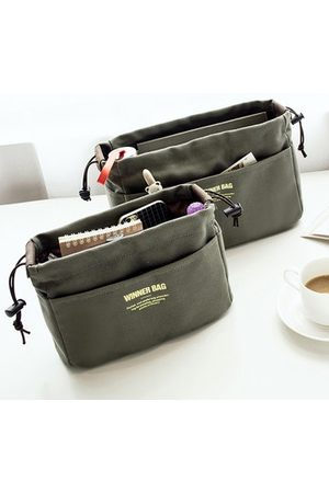 Newchic Women Toiletry Bags - Women Portable Canvas Storage Bag Travel Cosmetic Bag Girls Toiletry Kit