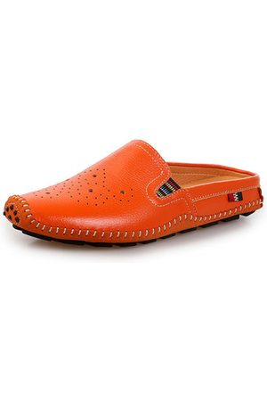 Newchic Men Loafers - Men Hollow Out Stitching Laze Slippers Breathable Backless Loafers