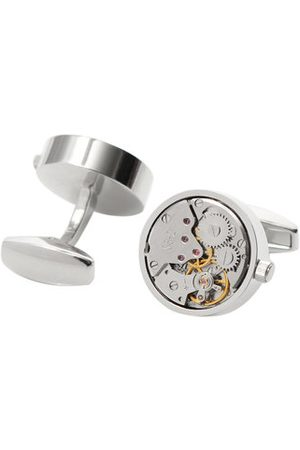 Newchic Men Cufflinks - High-grade White Steel Color Mechanical Watch Movement Cufflinks