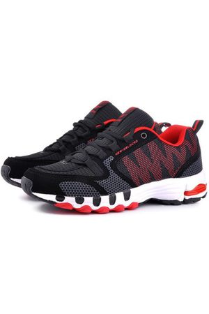Newchic Men Shoes - DELOCRD Big Size Mens Mesh Color Match Breathable Sport Running Sneakers