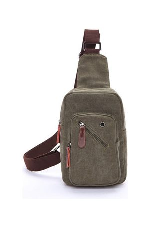 Newchic Men Travel Bags - Mens Crossbody Bag Chest Pack Canvas Portable Travel Bag