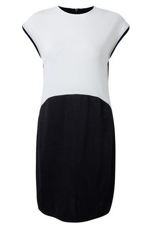 Newchic Sexy Women Short Sleeve Patchwork Work Sheath Pencil Dress