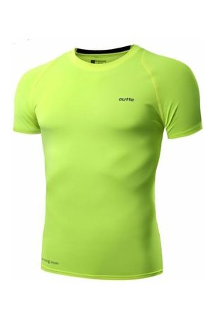 Newchic Mens Fitness Running Tights Short SleeveD T-shirtS High Elastic Quick Dry Breathable Tops