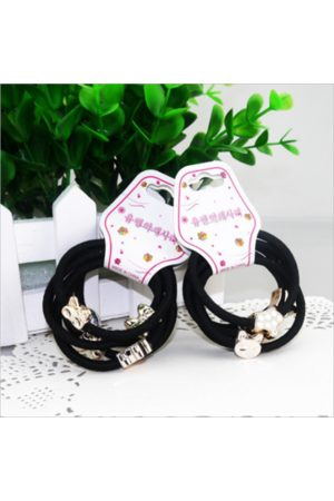 Newchic Girls Hair Accessories - 10 Pieces Cute Alloy Small Pendant Decorative Hair Band Girls Hair Ring