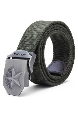 Newchic 140cm Five-Pointed Star Extended Thickening Canvas Weaving Buckle Belt