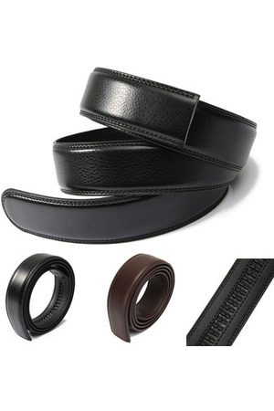 Newchic Men's Leather Automatic Waist Band Strap Belt Without Buckle