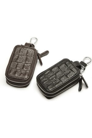 Newchic PU Leather Solid Casual Vintage Key Bag Key Case Wallet For Men