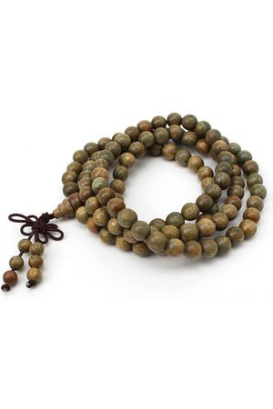 Newchic 8mm Green Sandalwood Prayer Bead Bracelet