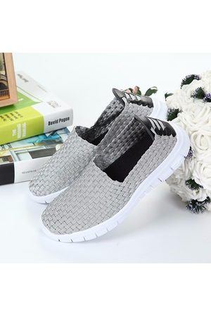 Newchic Women Shoes - Breathable Elastic Handmade Knitting Slip On FlatCasual Outdoor Sport Shoes