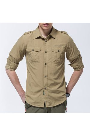 Newchic Mens Outdoor Detachable Sleeve Quick-drying Shirt