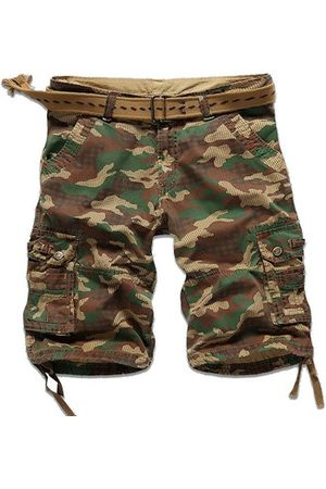 Newchic Men Cargo Pants - Camo Multi-pocket Cargo Pants Mens Cotton Outdoor Casual Camouflage Shorts