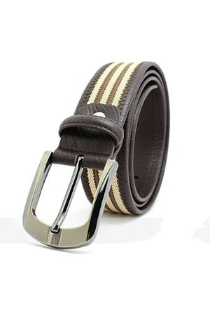 Newchic Men's Leather Belt Knitting Needle Buckle Retro Casual Canvas Belt