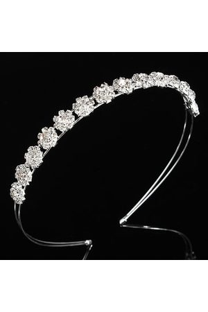 Newchic Women Headbands - Sliver Wedding Bridal Prom Crystal Rhinestone Diamante Crown Tiara Headband