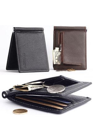 Newchic Men Genuine Leather Business Small Multifunctional Money bag Card Holders Wallet