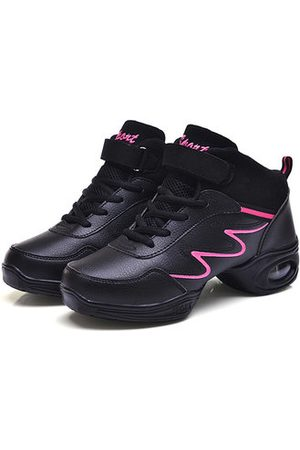 Newchic Women Shoes - Leather Soft Sole Breathable Lace Up Sport Dance Jazzy Shoes