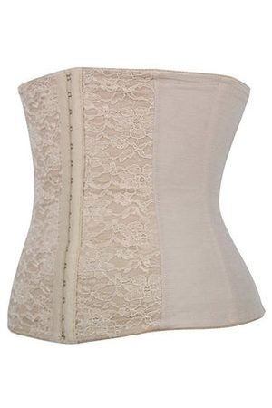 Newchic Women Sexy Embroidered Elastic Breathable Corset Steel Boned Waist Training Underbust Bustiers