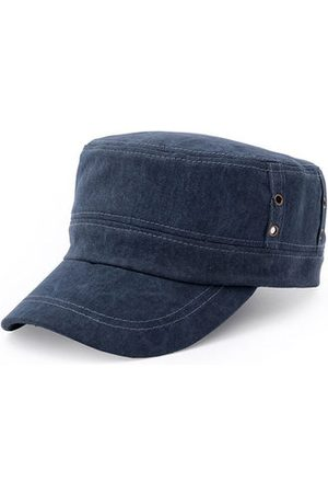 Newchic Solid Washed Flat Baseball Cap Outdoor Sun Hat