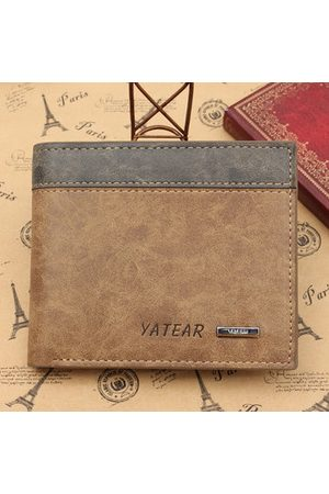 Newchic Men's PU Leather Bifold Wallet ID Business Credit Card Holder