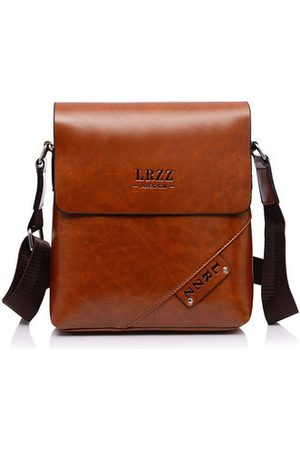 Newchic Men Laptop Bags - Men Business PU Leather Casual Shoulder Messenger Briefcase Crossbody bag